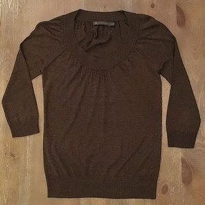 Outback Red Scoop Neck 3/4 Sleeve Pullover Sweater